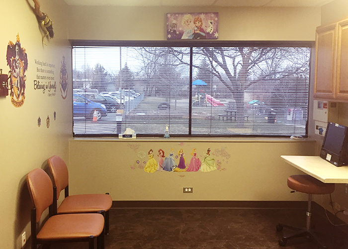 Orchard Lake Center pediatric patient room